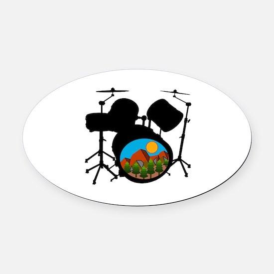 SOUNDS Oval Car Magnet