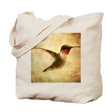 Ruby throated hummingbird up close Tote Bag