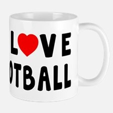 I Love Football Mug