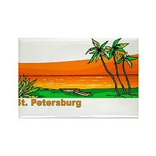 St. Petersburg, Florida Rectangle Magnet