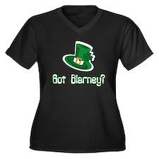 Got Blarney? Women's Plus Size V-Neck Dark T-Shirt