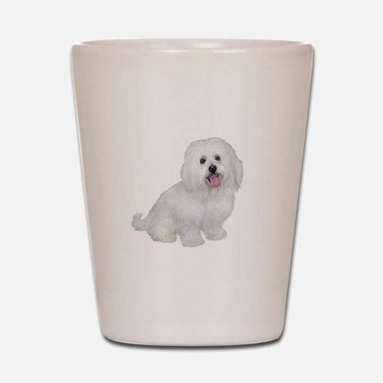 Havanese (W1) Shot Glass