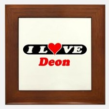 I Love Deon Framed Tile
