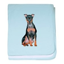 Miniature Pinscher 2 baby blanket