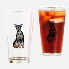 Miniature Pinscher 2 Drinking Glass