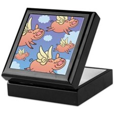 When Pigs Fly Keepsake Box
