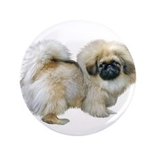 "Pekingese (sable2) 3.5"" Button"