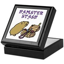 Hamster Tile Keepsake Box: Hamster Stash/Treasure