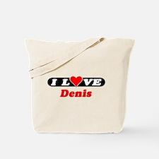 I Love Denis Tote Bag