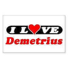 I Love Demetrius Rectangle Decal