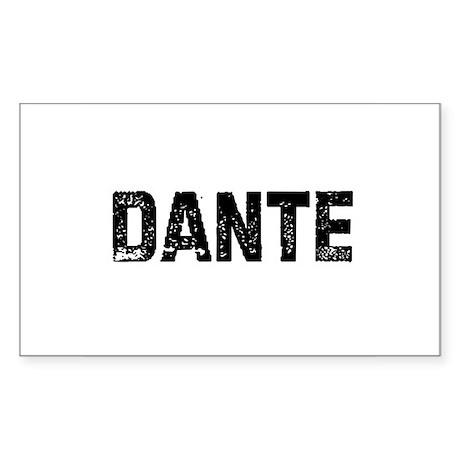 Dante Rectangle Sticker