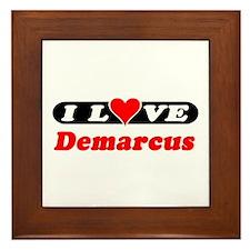 I Love Demarcus Framed Tile
