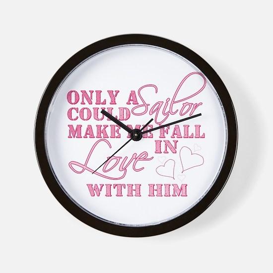 Funny Navy boyfriend Wall Clock
