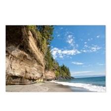Bluff overlooking sandy b Postcards (Package of 8)