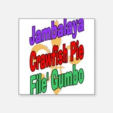 Jambalaya, Crawfish Pie, File Rectangle Sticker