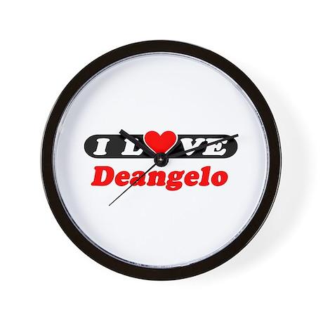 I Love Deangelo Wall Clock