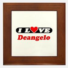 I Love Deangelo Framed Tile