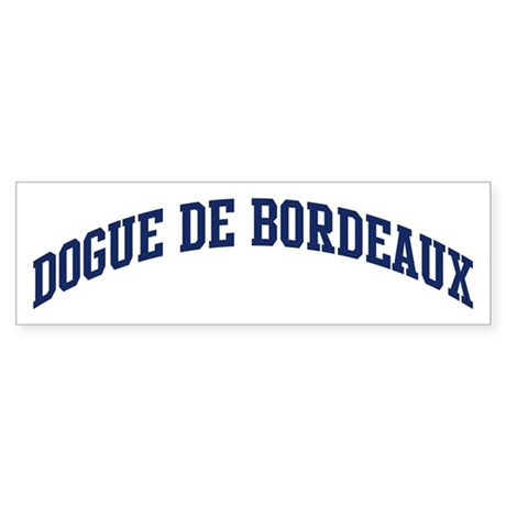 Dogue De Bordeaux (blue) Bumper Sticker