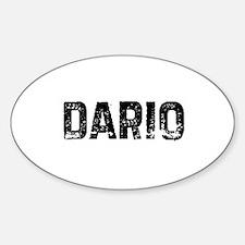 Dario Oval Decal