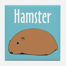 Hamster Tile Coaster: Hamster
