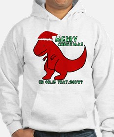 merry christmas cute dinosaur Hoodie Sweatshirt