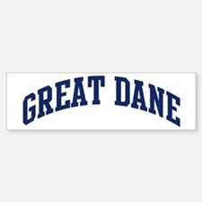 Great Dane (blue) Bumper Bumper Bumper Sticker
