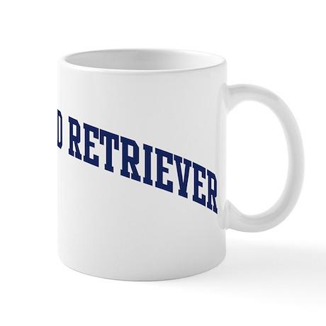 Curly-Coated Retriever (blue) Mug
