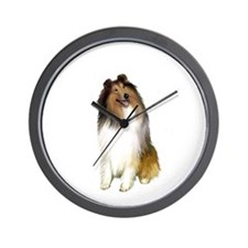 Collie (Sable-White #1) Wall Clock