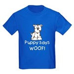 Puppy Says Woof Kids Dark T-Shirt