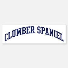 Clumber Spaniel (blue) Bumper Bumper Bumper Sticker