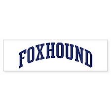 Foxhound (blue) Bumper Car Sticker