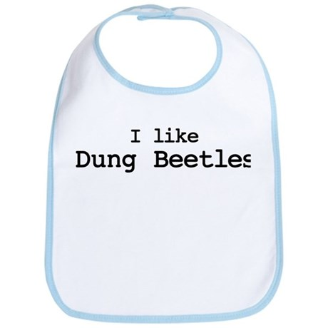I like Dung Beetles Bib