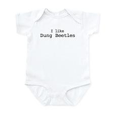 I like Dung Beetles Infant Bodysuit