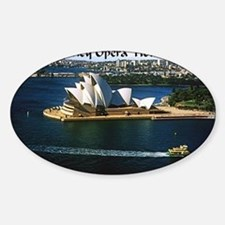 Sydney Opera House  Sticker (Oval)