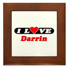 I Love Darrin Framed Tile