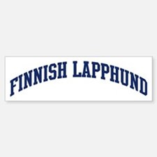 Finnish Lapphund (blue) Bumper Bumper Bumper Sticker