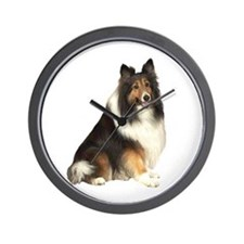 Collie (dark sable) Wall Clock