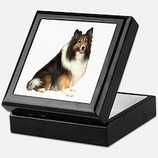 Collie (dark sable) Keepsake Box