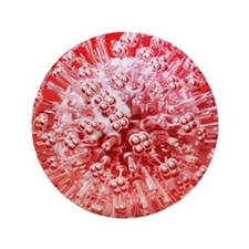 """Influenza virus particle floating  3.5"""" Button"""