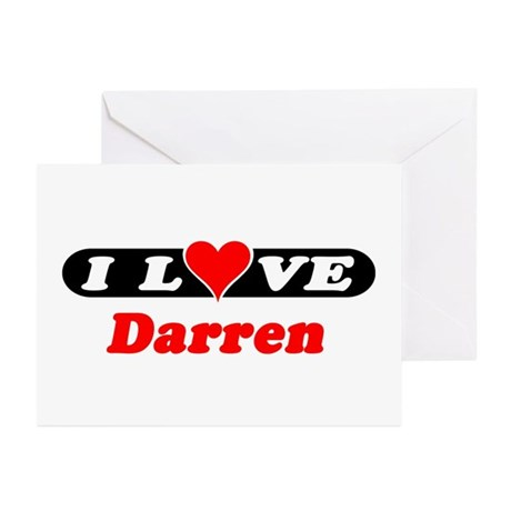 I Love Darren Greeting Cards (Pk of 10)
