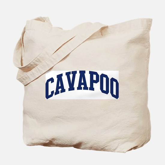 Cavapoo (blue) Tote Bag