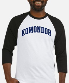 Komondor (blue) Baseball Jersey