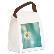Small delicate white daisy Canvas Lunch Bag