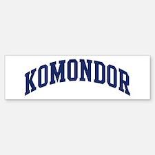 Komondor (blue) Bumper Bumper Bumper Sticker