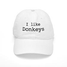 I like Donkeys Baseball Cap