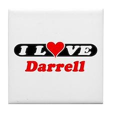 I Love Darrell Tile Coaster