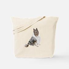 Collie (blue merle) Tote Bag