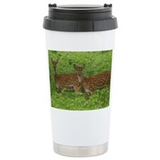 Double spotted deers. Travel Mug