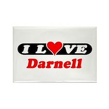 I Love Darnell Rectangle Magnet