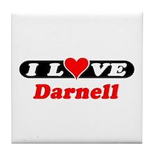 I Love Darnell Tile Coaster